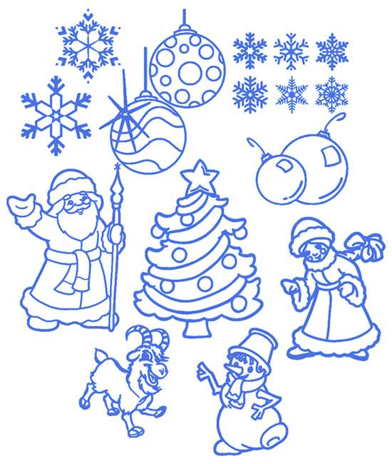Быстрый заказ Набора новогодних наклеек