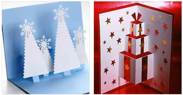 Красивые открытки своими руками новогодние